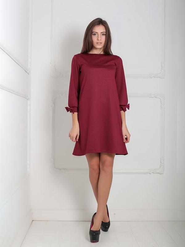 Платье бордовое | 5035790