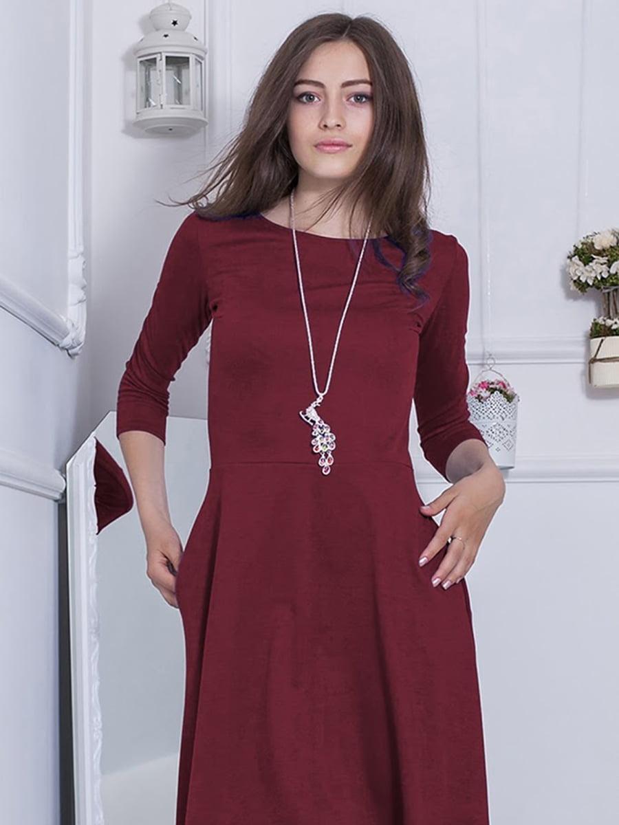 Платье бордовое   5035808