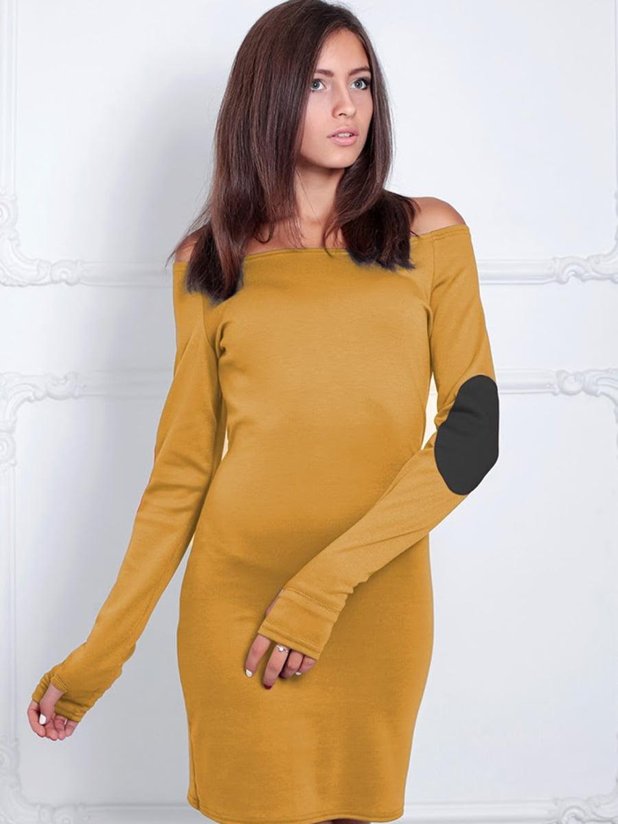Платье горчичного цвета | 5035813