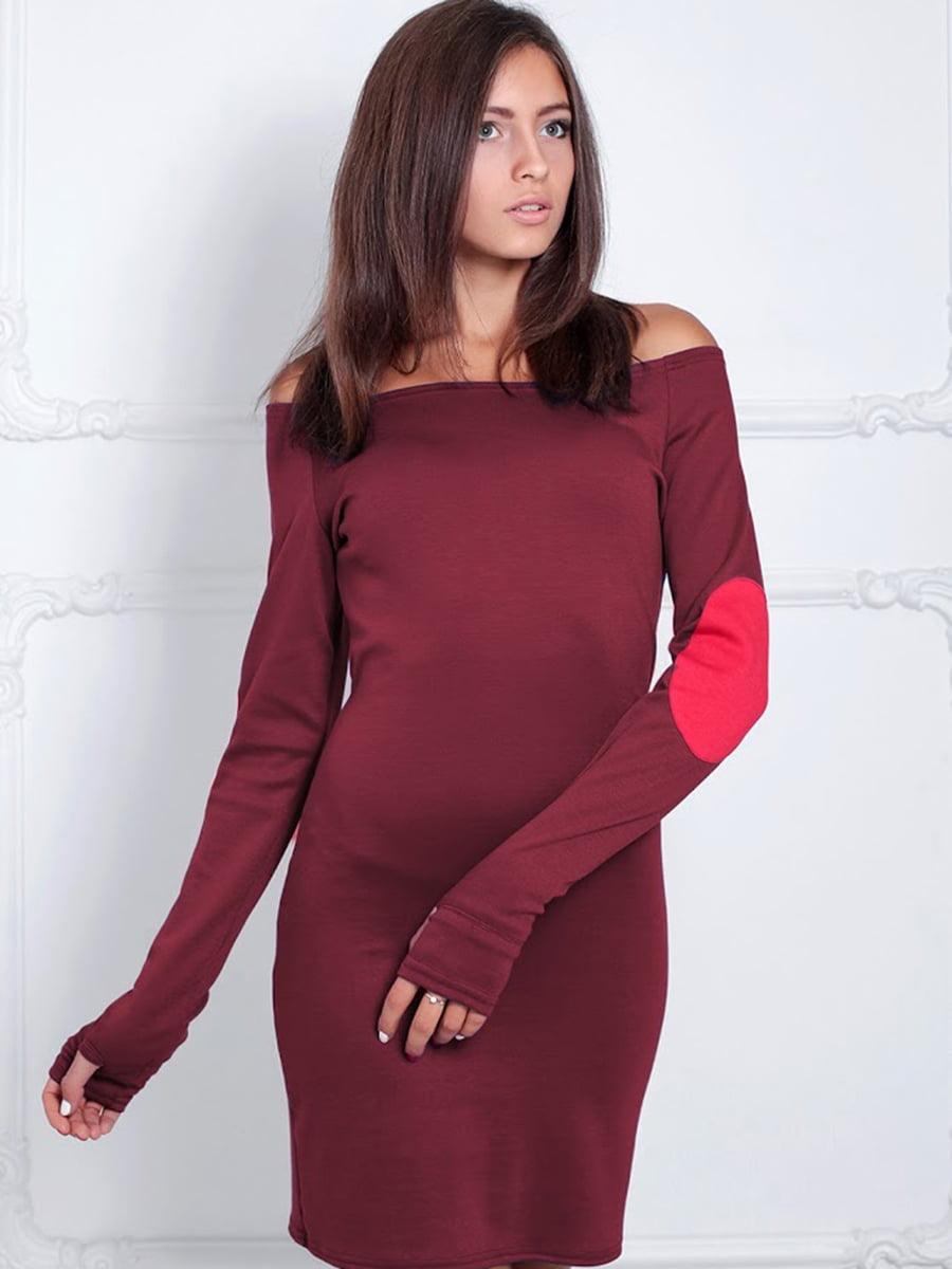 Платье бордовое | 5035814