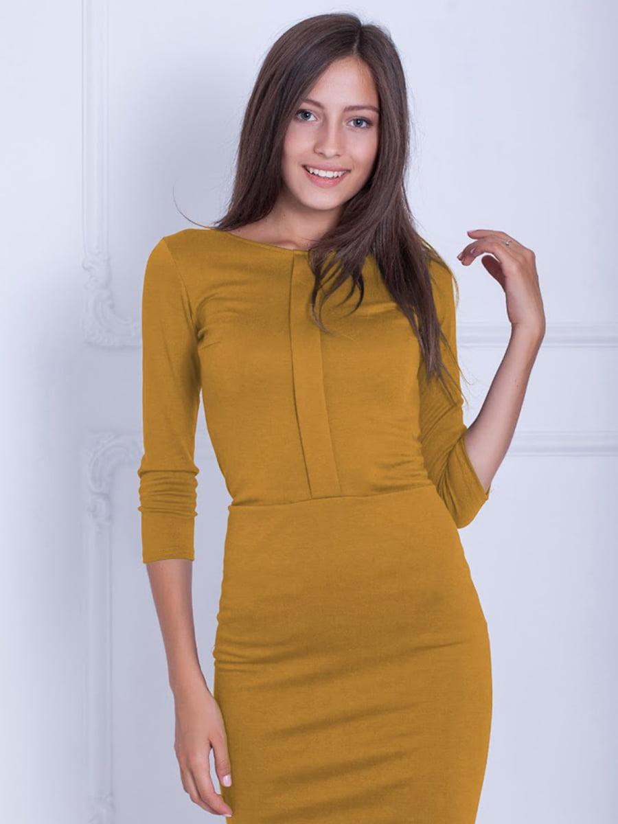 Платье горчичного цвета   5035819