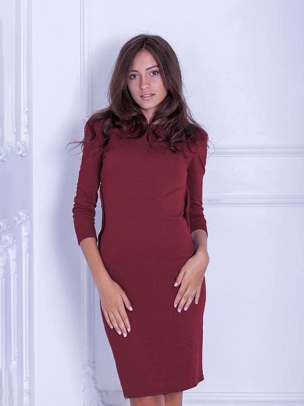 Платье бордовое | 5035836