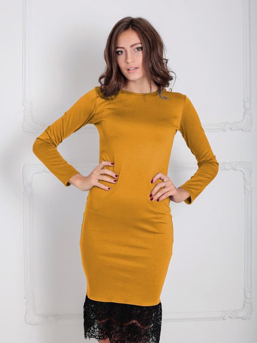 Платье горчичного цвета   5035864