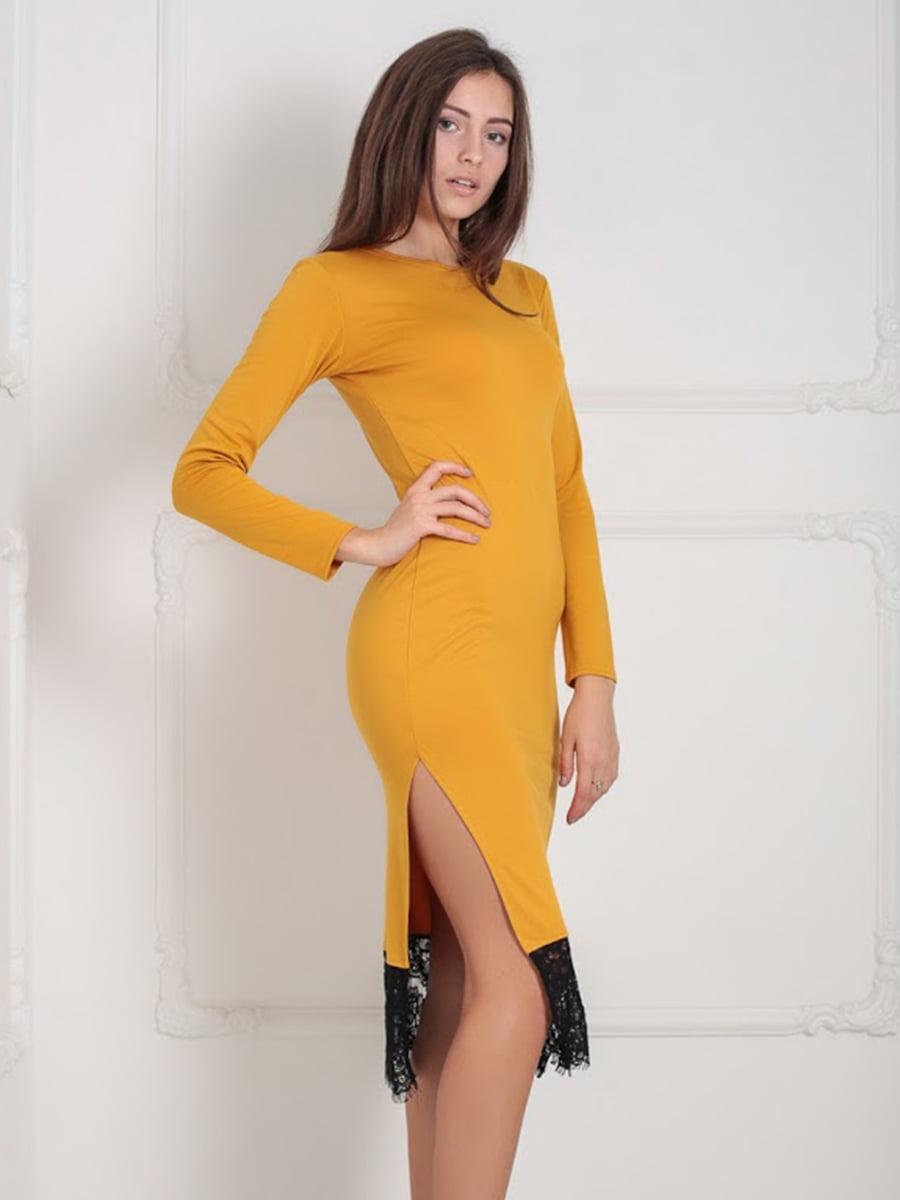 Платье горчичного цвета | 5035867