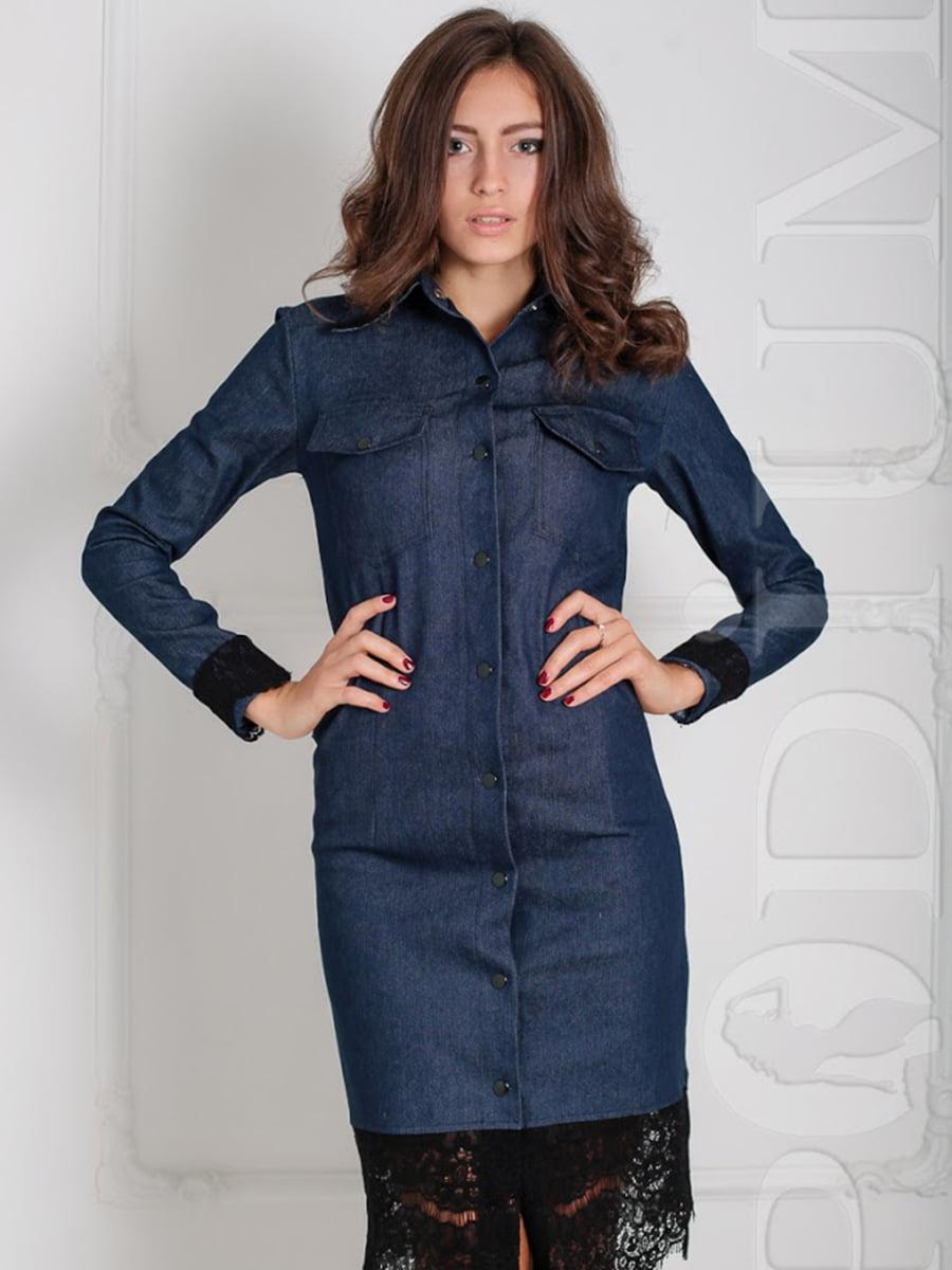 Платье сине-черное   5035925