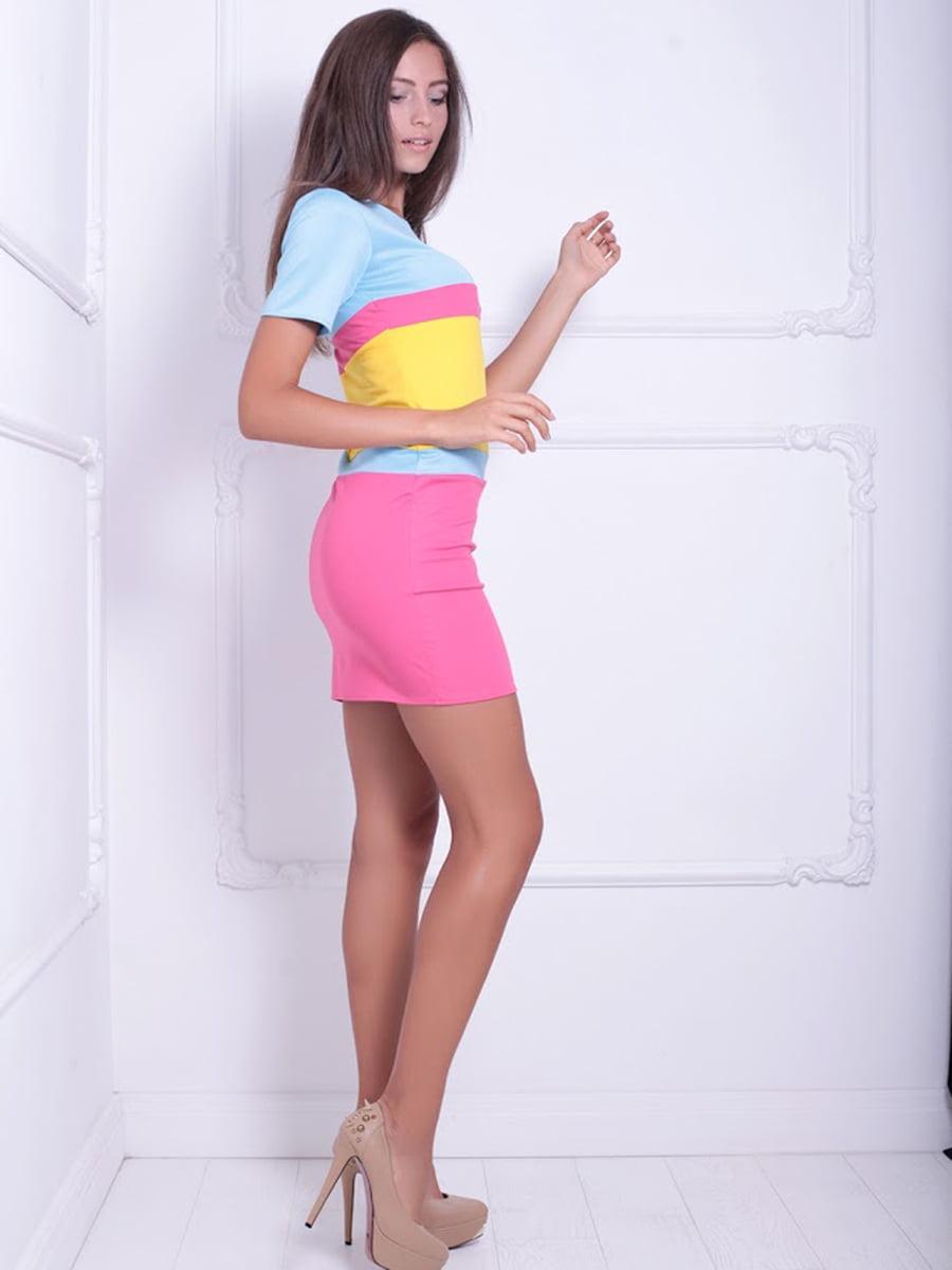 Платье трехцветное | 5036069