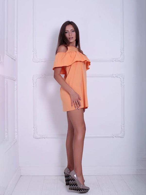 Платье оранжевое   5036089