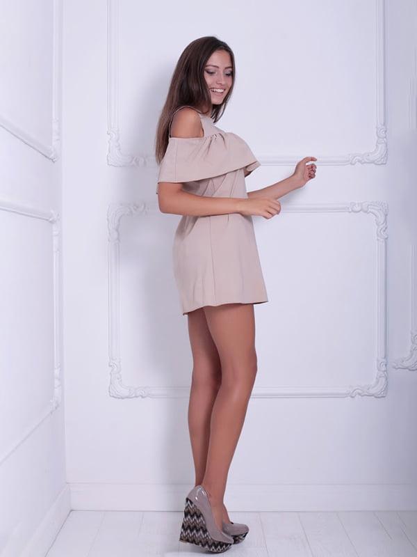 Платье бежевое   5036091