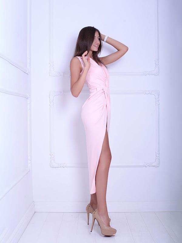 Платье цвета пудры | 5036098