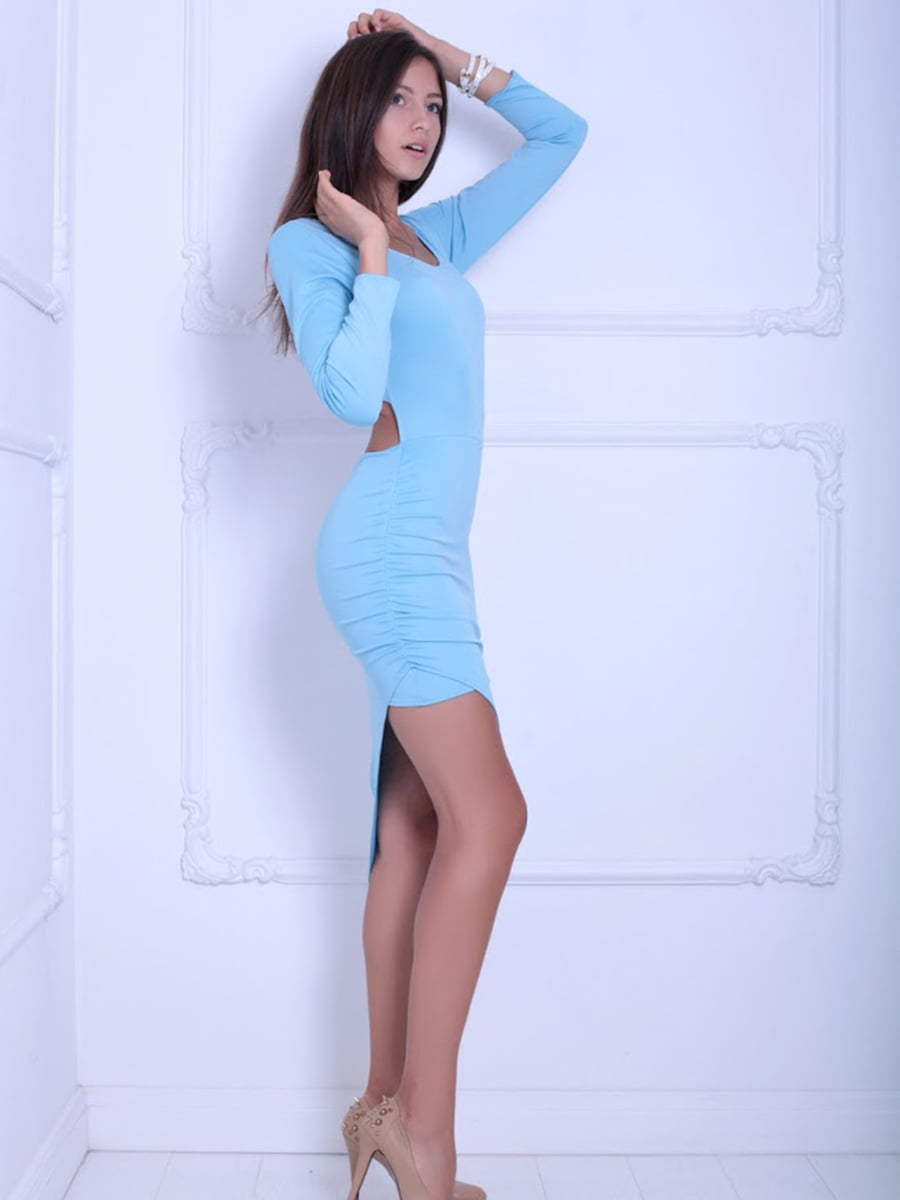 Платье голубое | 5036105