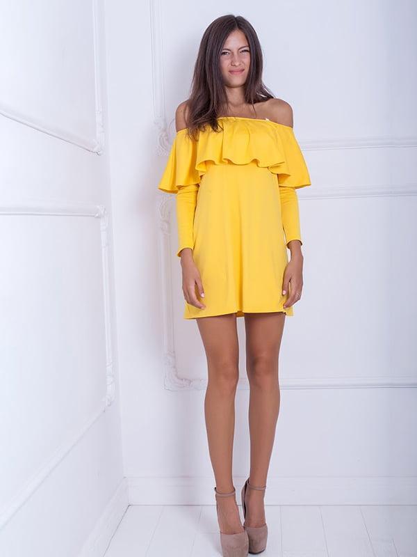 Платье желтое | 5036180