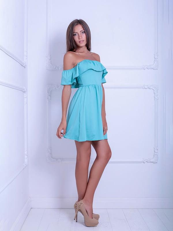 Платье ментолового цвета | 5036187