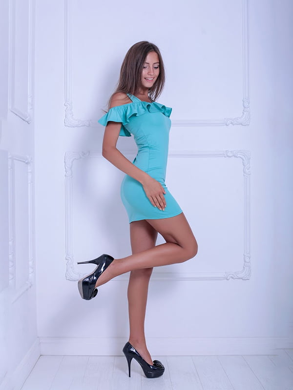 Платье мятного цвета | 5036216