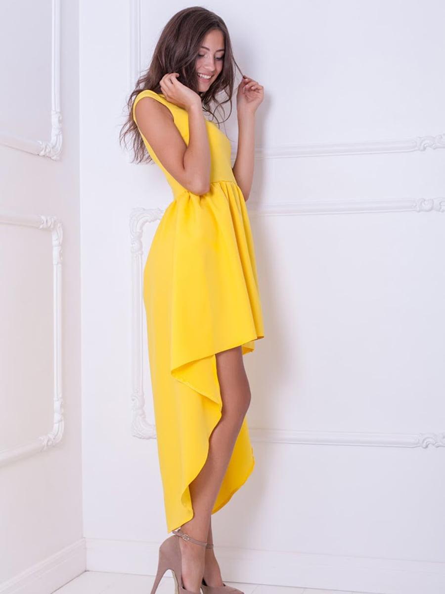 Платье желтое   5036258
