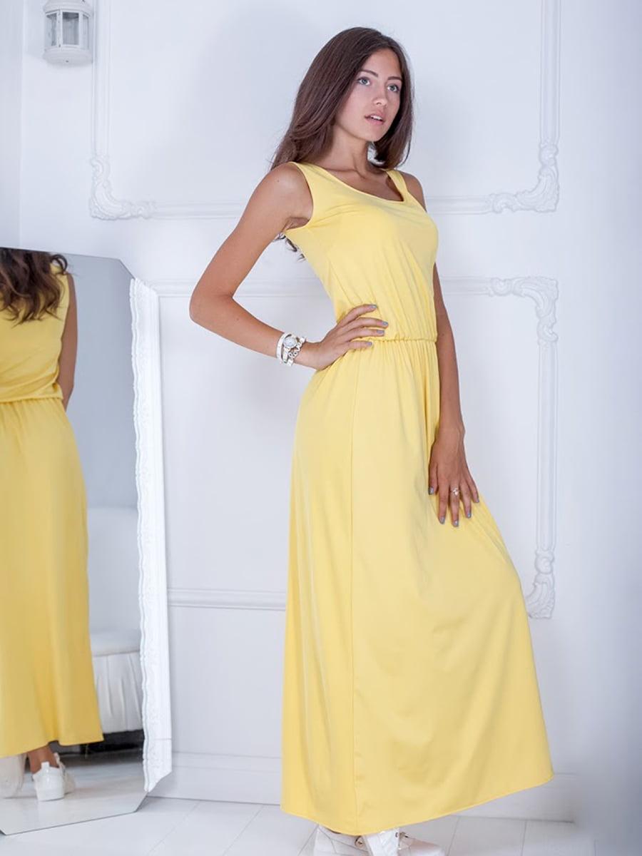 Платье желтое | 5036298