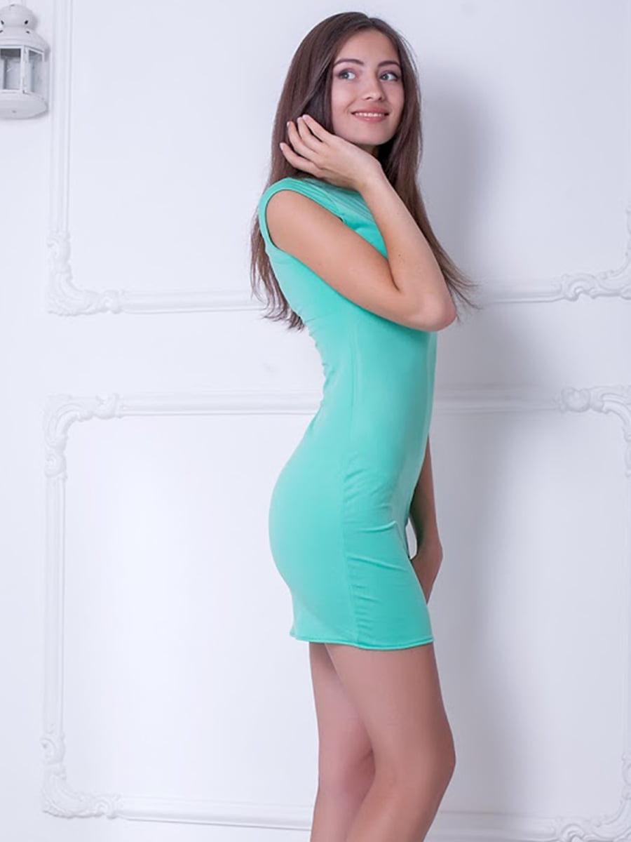 Платье ментолового цвета | 5036331