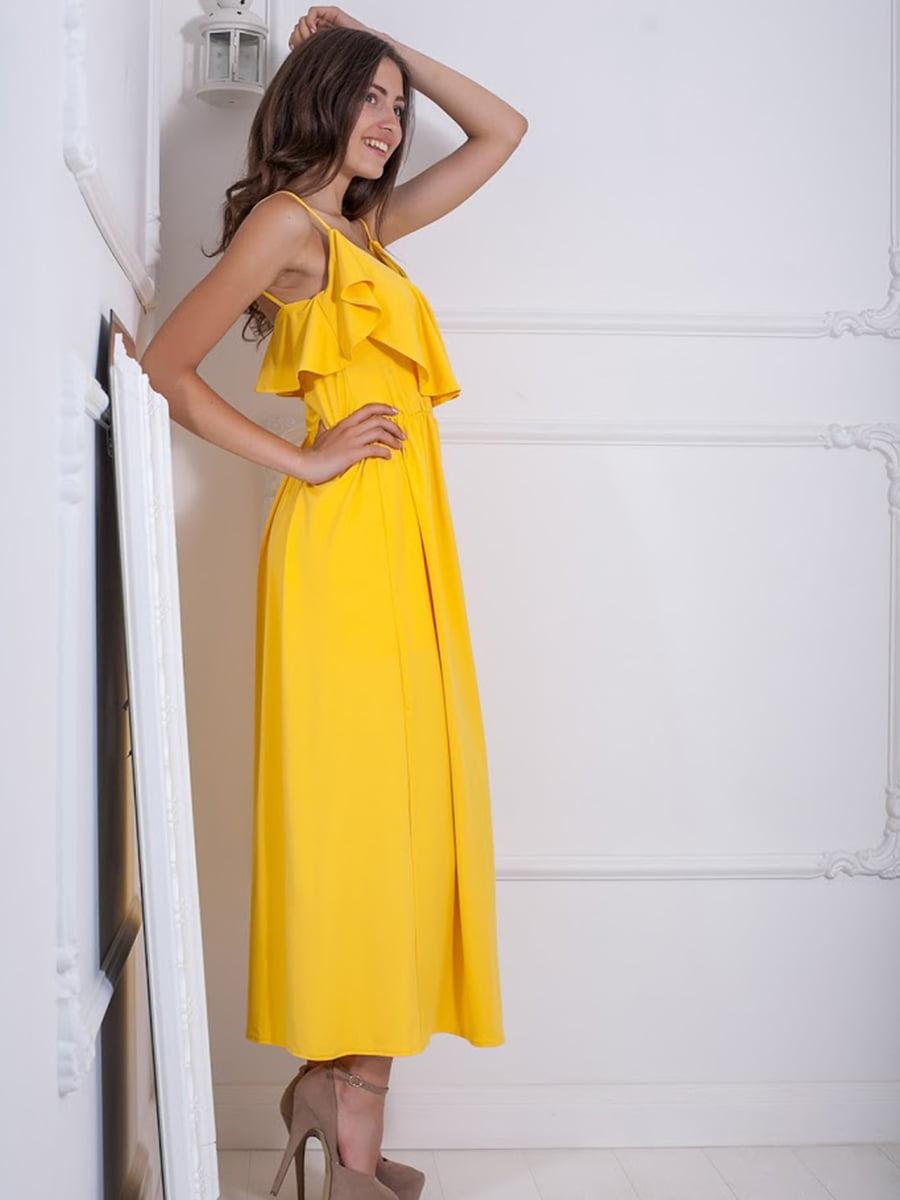 Платье желтое | 5036339