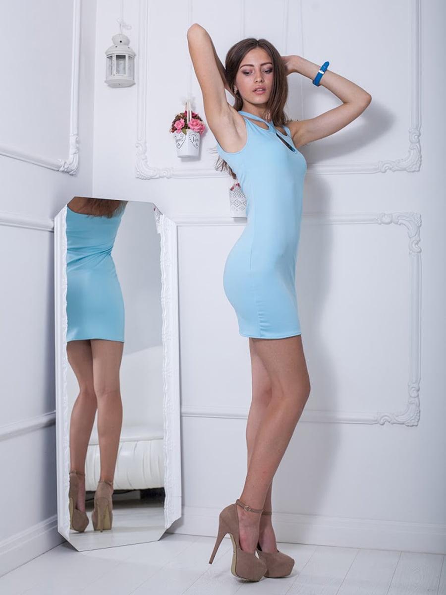 Платье голубое | 5036344