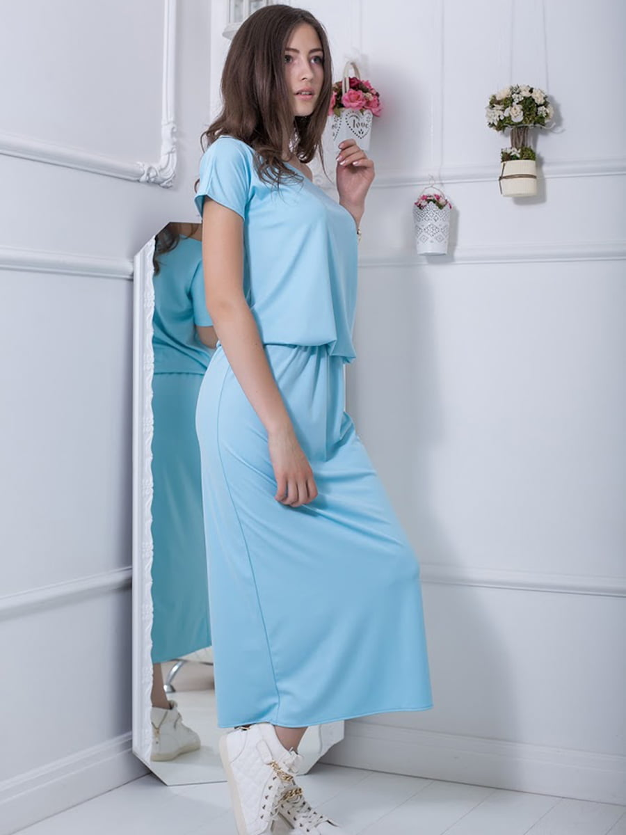 Платье голубое | 5036365