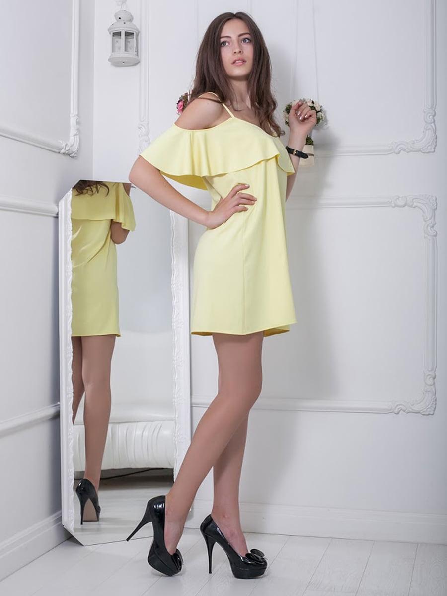 Платье желтое | 5036377