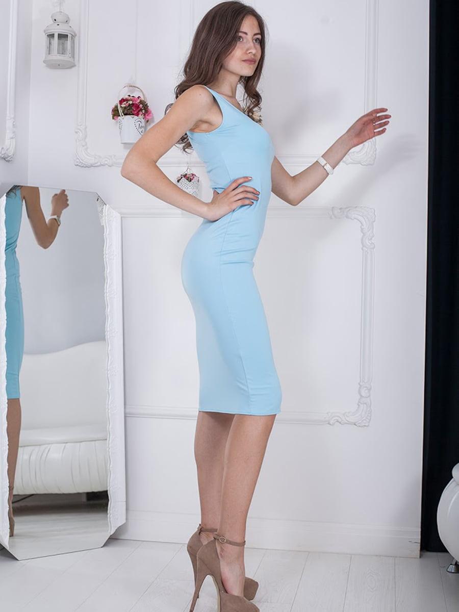 Платье голубое | 5036406
