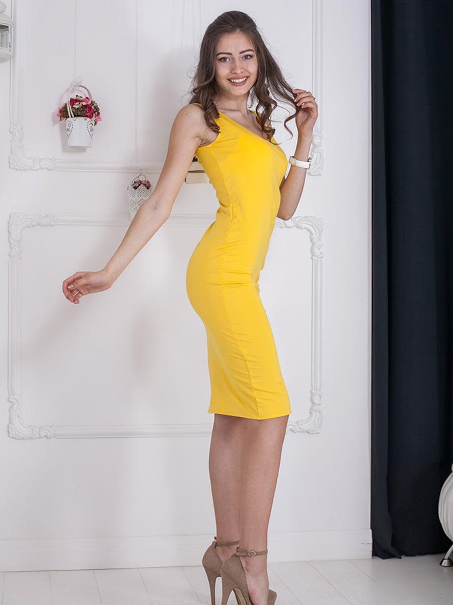 Платье желтое   5036410