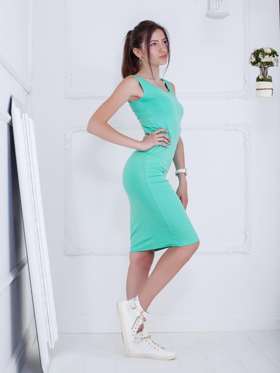 Платье мятного цвета   5036418