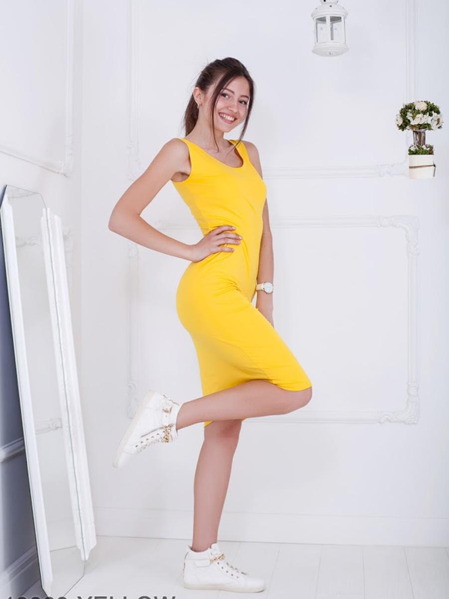 Платье желтое   5036419