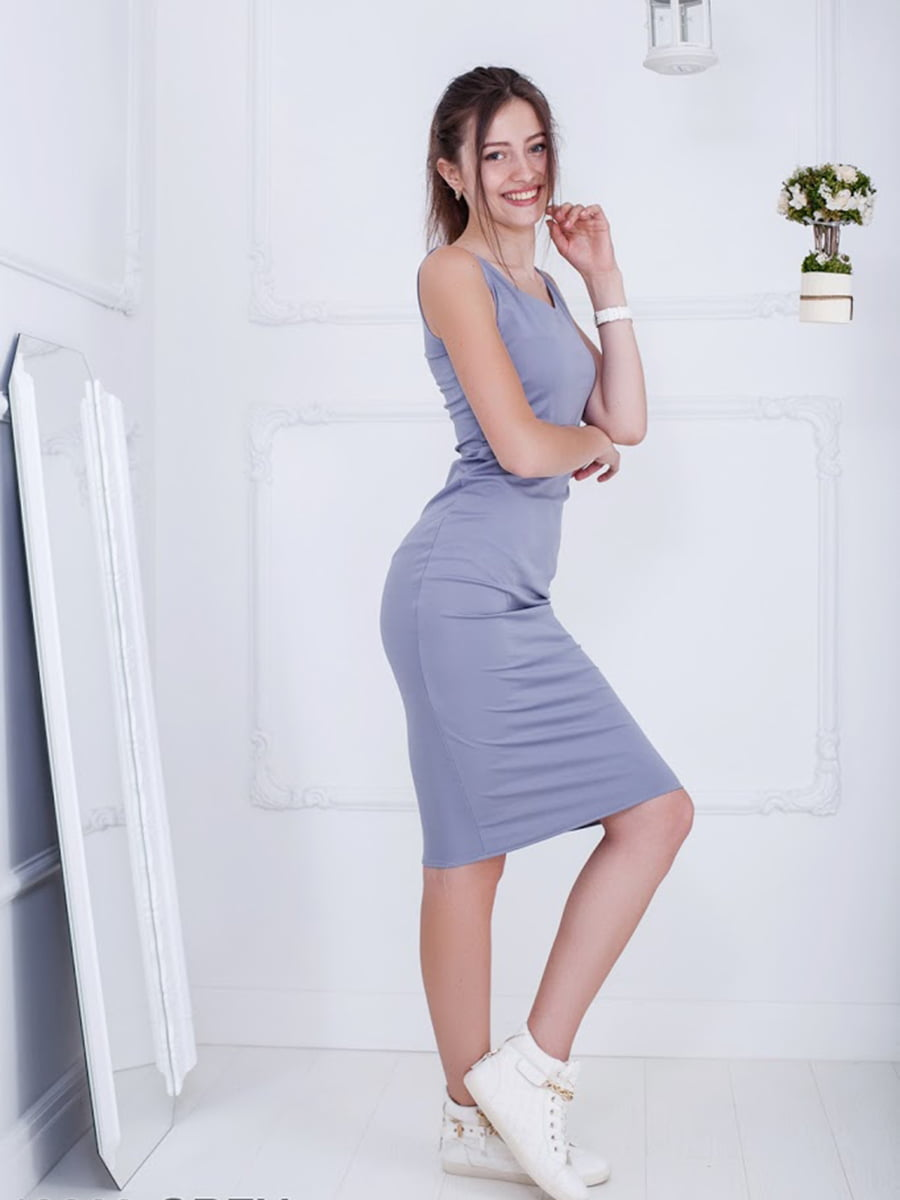Платье серое | 5036420