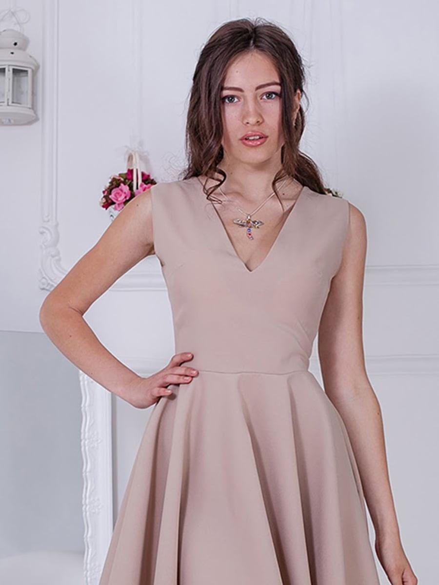 Платье бежевое   5036431
