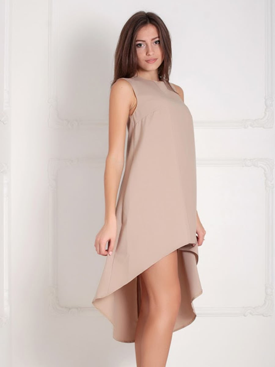 Платье бежевое | 5036433