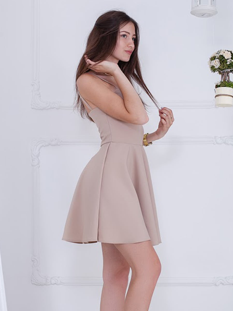 Платье бежевое | 5036442