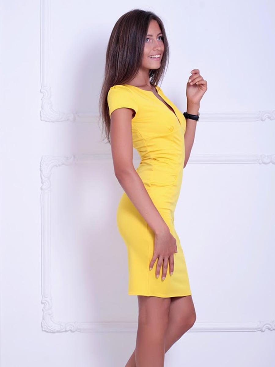 Платье желтое | 5036448