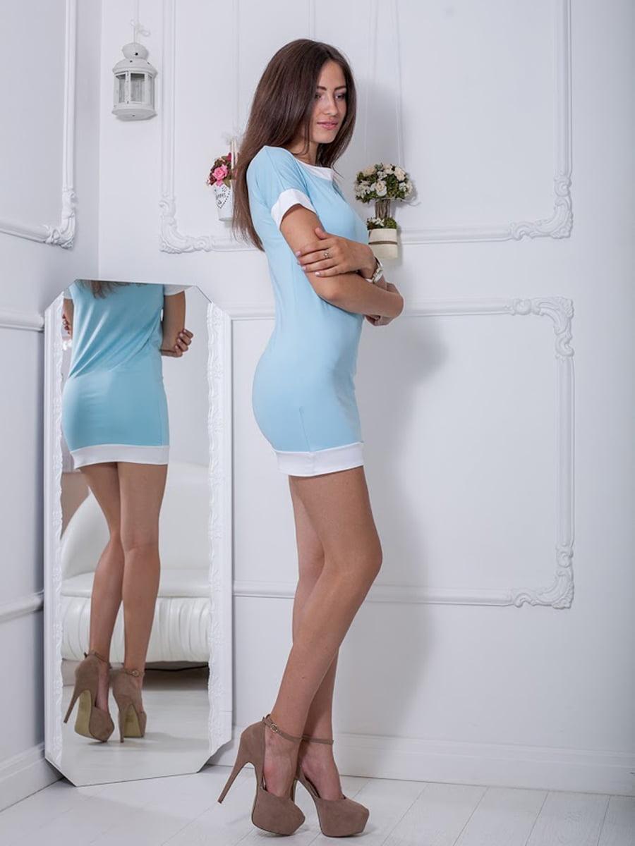 Платье голубое | 5036463