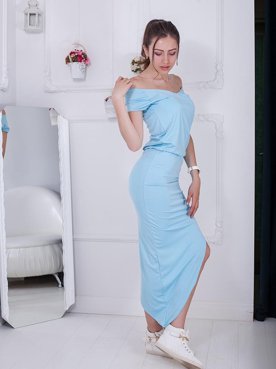 Платье голубое | 5036472