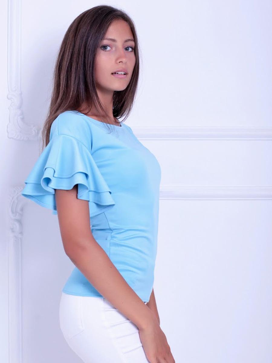 Блуза голубая   5036480