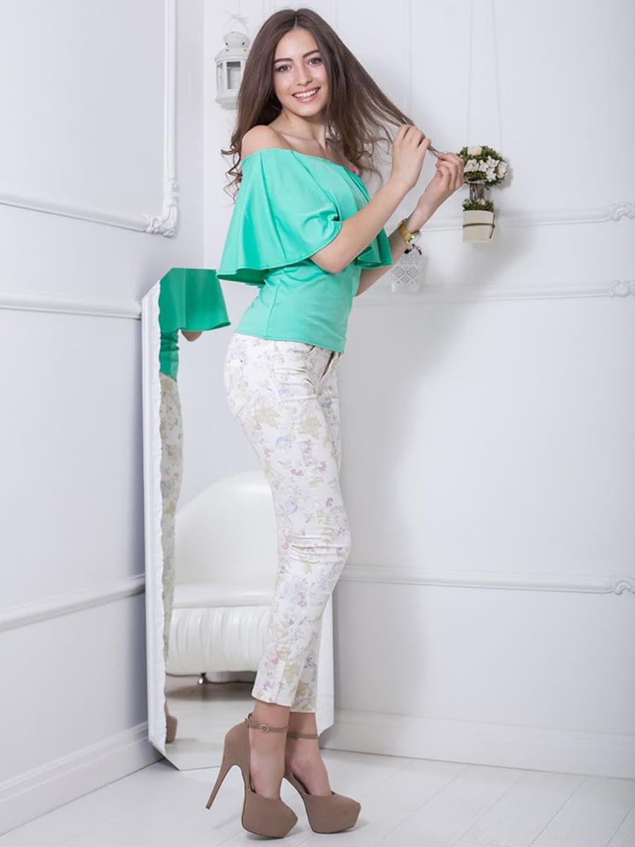 Блуза ментолового цвета   5036511