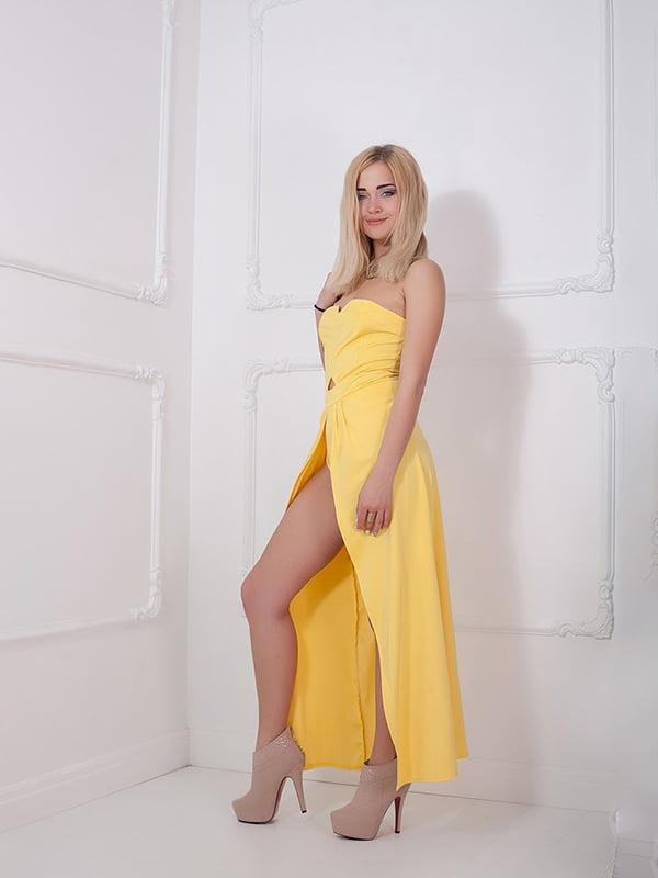 Платье желтое   5036533