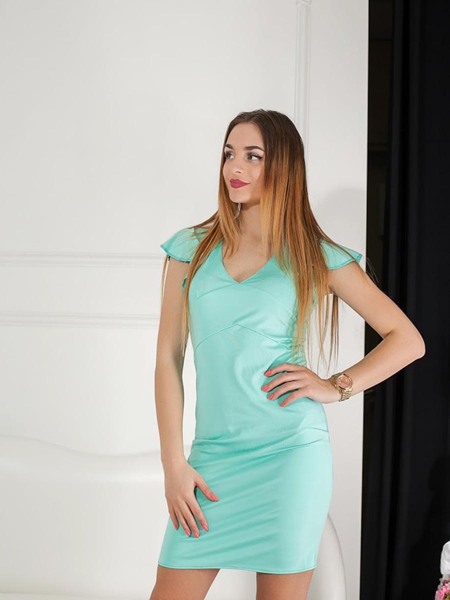 Платье бирюзовое | 5036604