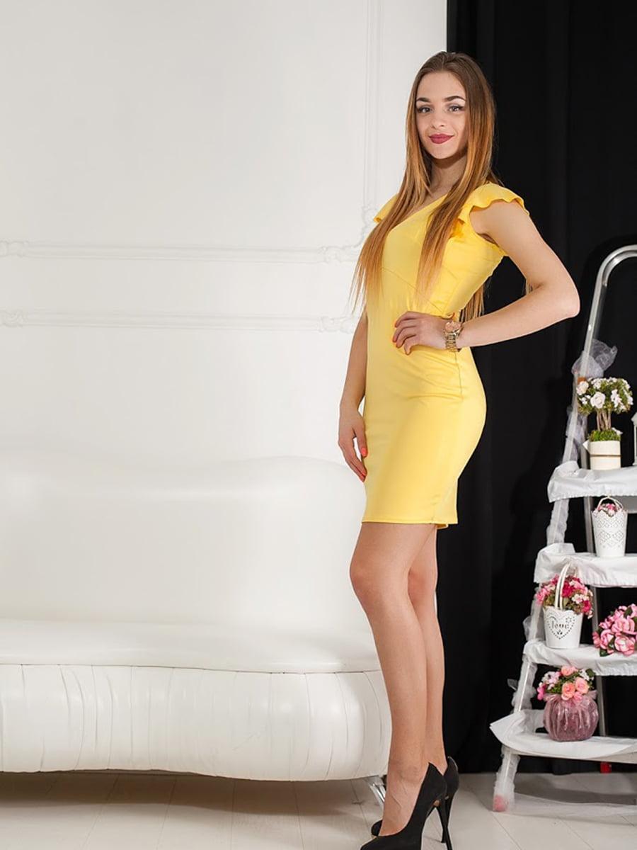 Платье желтое | 5036605