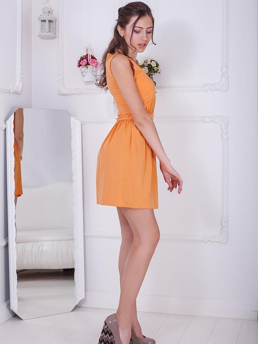 Платье оранжевое | 5036642