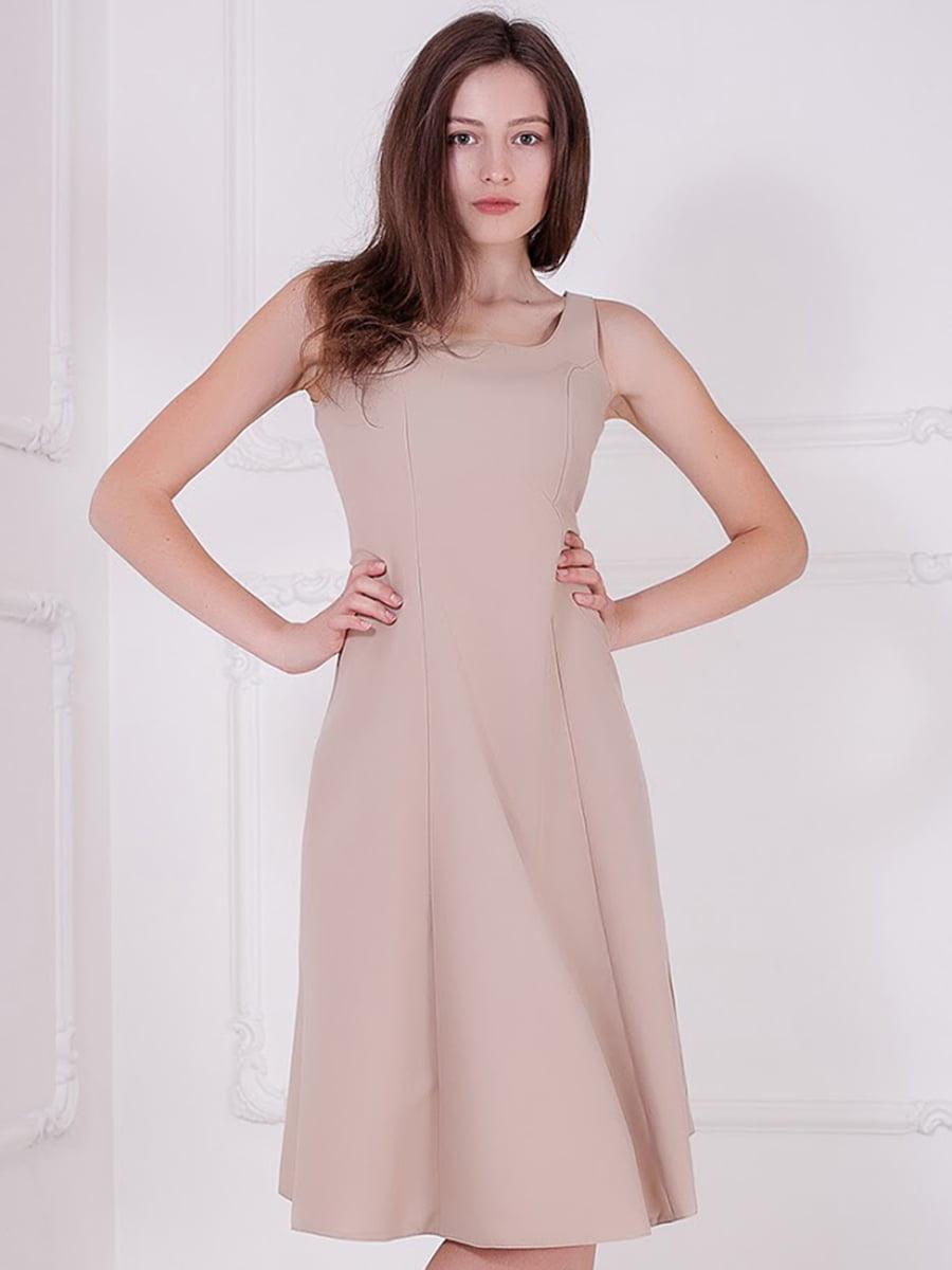 Платье бежевое   5036732