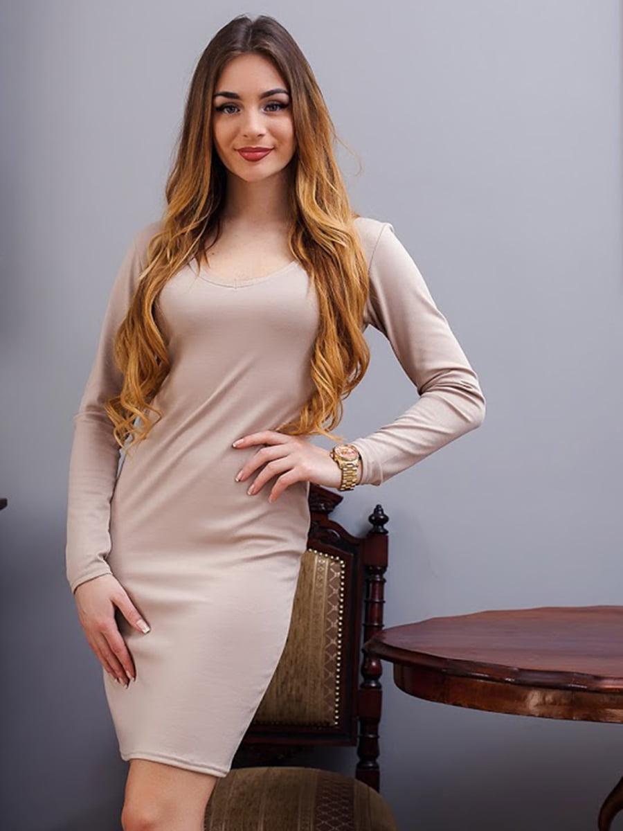 Платье бежевое | 5036802