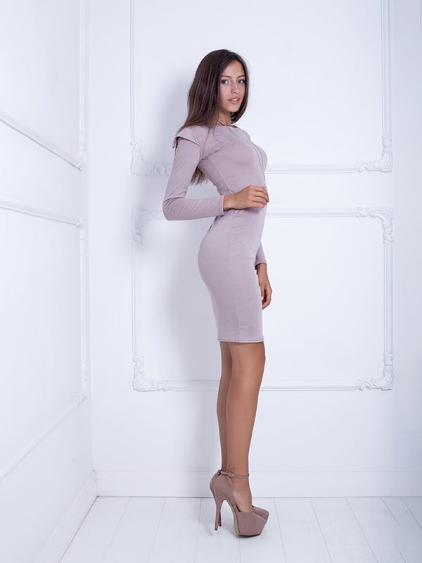 Платье бежевое | 5037054