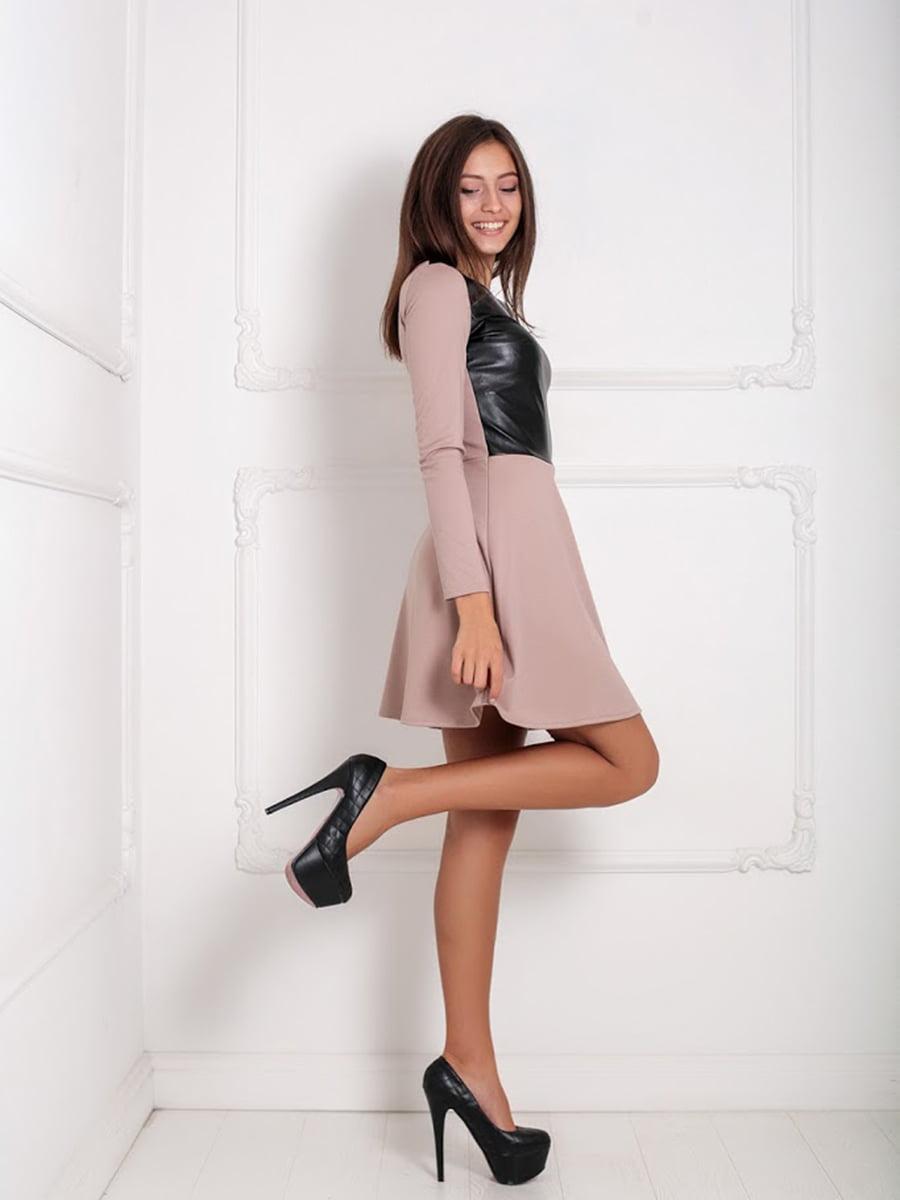Платье бежевое | 5037060