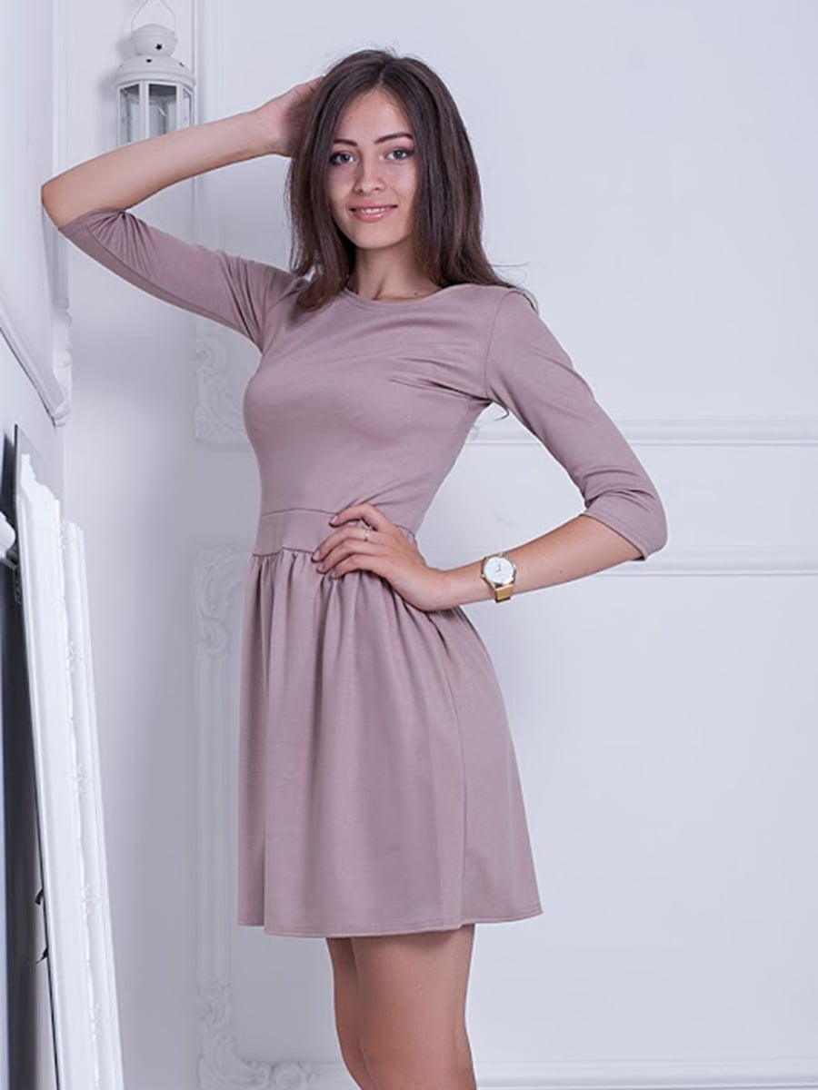 Платье бежевое   5037085