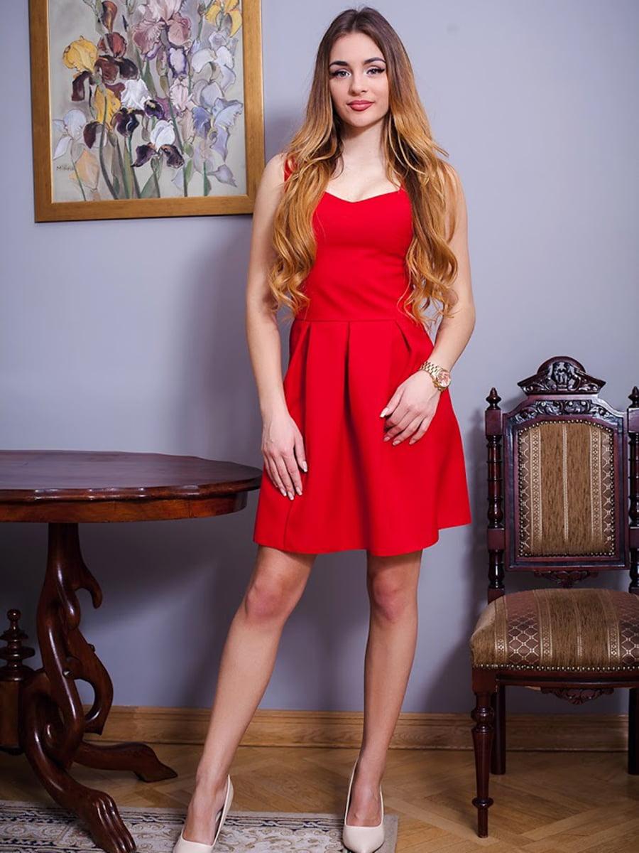 Платье красное   5037176