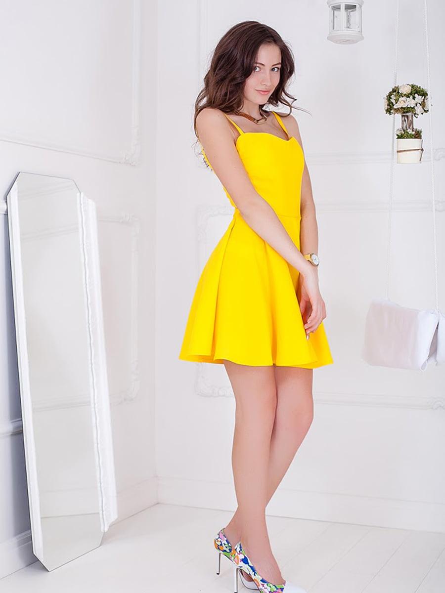 Платье желтое | 5037180