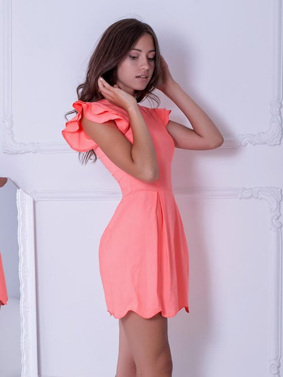 Платье персикового цвета | 5037234