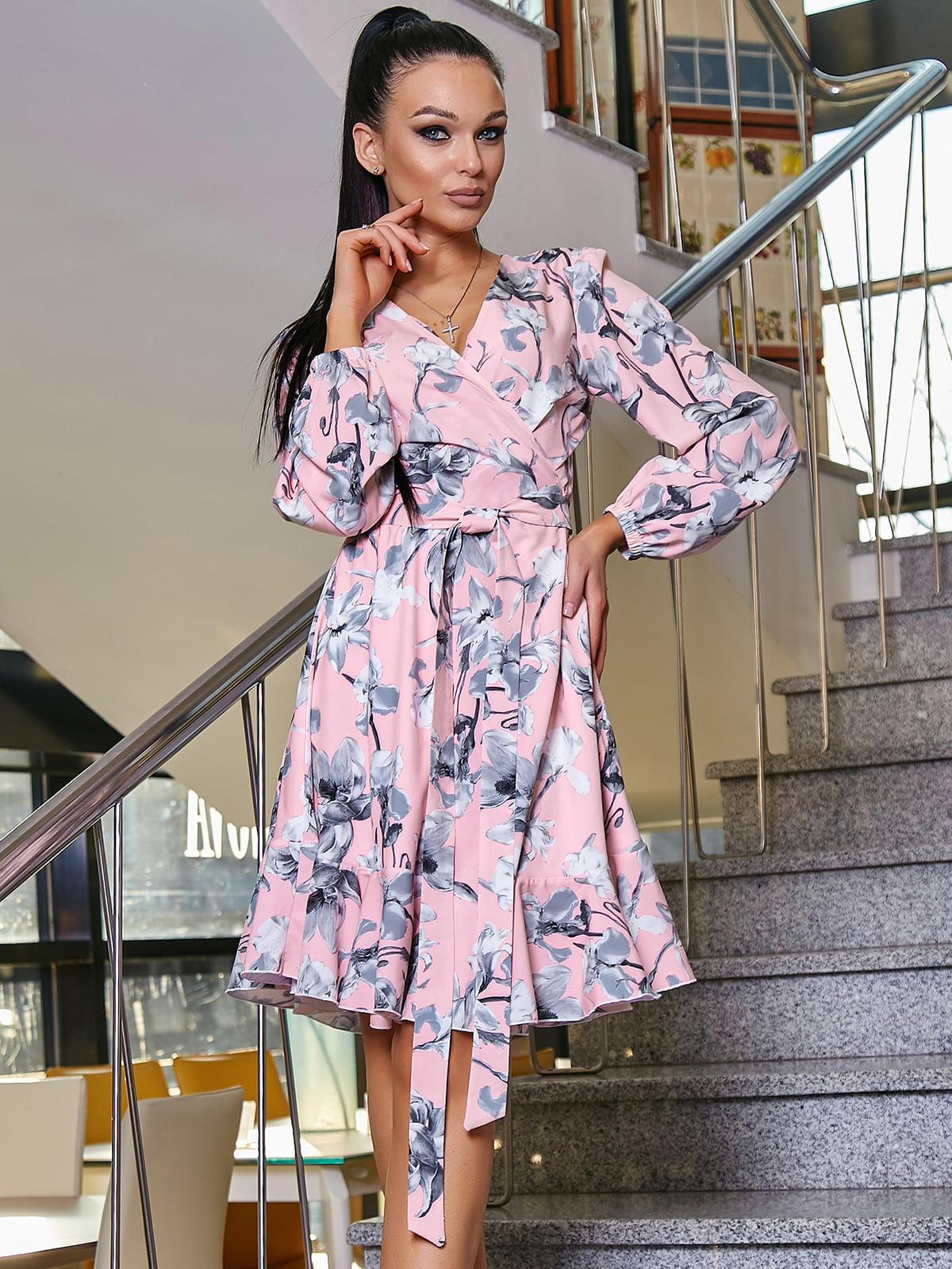 Платье в цветочный принт | 5037660